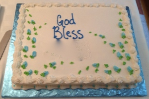 the delicious cake to celebrate the baptism of my nephew - and now godson :-)