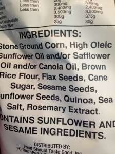 an example of well-written and clear ingredient list