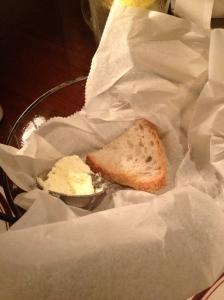 an almost empty bread basket!